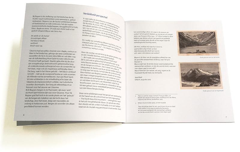 typografie boek Lac de Gaube