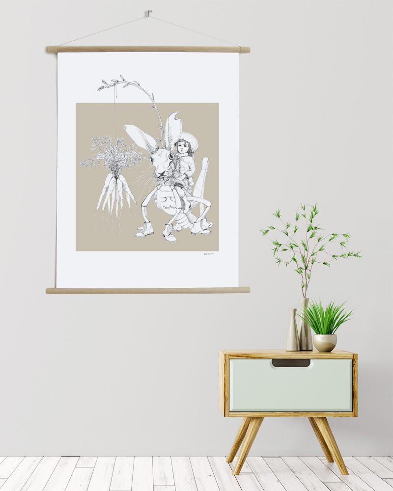 Canvas poster Weird & Wonderful harehopper