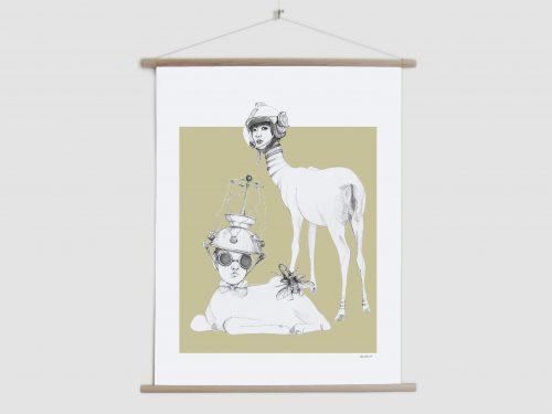 Canvas poster Weird & Wonderful -  Space deer