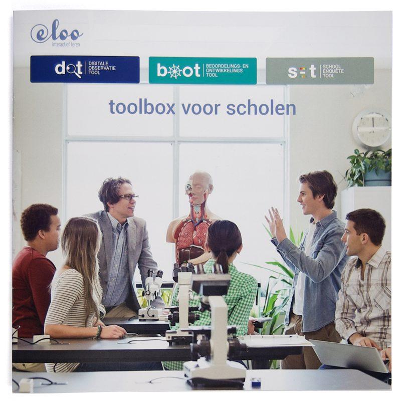 ontwerp omslag brochure e-Loo toolbox voor scholen