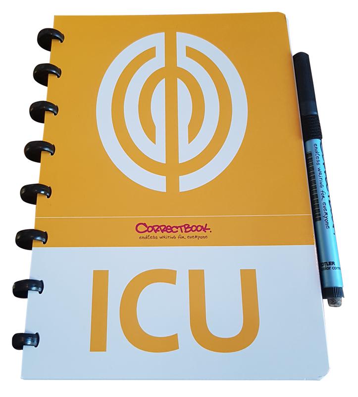 ontwerp omslag correctbook voor ICU