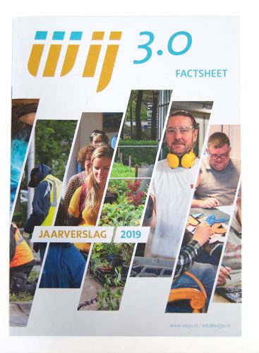 ontwerp Jaarverslag Wij 3.0 door Omniafausta grafisch ontwerp