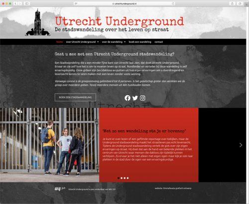 website ontwerp en realisatie Utrecht Underground door Omniafausta