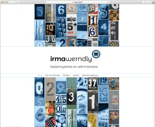 website ontwerp voor Irma Werndly (home)