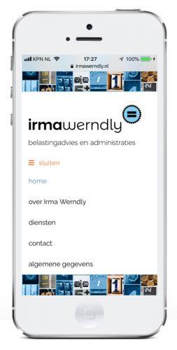 website ontwerp voor Irma Werndly (responsive)